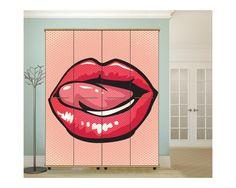 Lips ,αυτοκόλλητο  ντουλάπας popart Spiderman, Superhero, Fictional Characters, Spider Man, Superheroes, Fantasy Characters