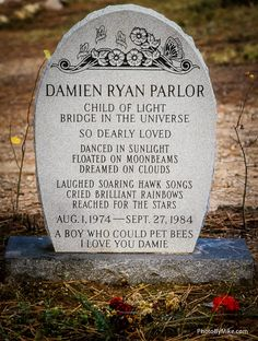Child's grave marker