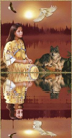 Native Indian and wolf Native American Children, Native American Pictures, Native American Artwork, Native American Wisdom, Native American Beauty, Indian Pictures, American Spirit, American Indian Art, Native American History
