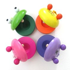 Children's Musical Percussion Instrument Wooden Castanet Preschool Toy Education