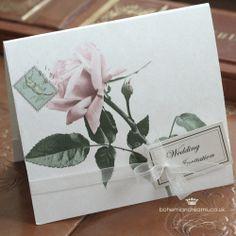 vintage garden wedding invitation www.bohemiandreams.co.uk Chic Wedding, Our Wedding, Vintage Wedding Invitations, Garden Wedding, Big Day, Weddings, Inspiration, Biblical Inspiration, Mariage