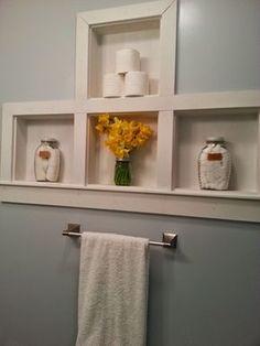 Small Bathroom Wall Cabinet, Small Bathroom Storage, Bathroom Ideas, Bathroom Cabinets, Basement Bathroom, Bathroom Renovations, Bathroom Plumbing, Small Storage, Bathroom Vanities