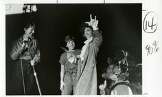 "Hundreds of students raised their hands to tell him in sign language, ""I love you.""'  Prince at Gallaudet University, 1984"