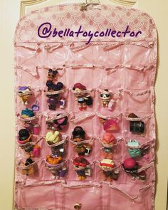 Tiny Toy Bag Storage Carrier Organizer Container Tote Holds 200 Tote LOL Pink