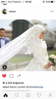 Muslim Wedding Gown, Hijabi Wedding, Arab Wedding, Hijab Wedding Dresses, Wedding Wear, Wedding Bride, Wedding Gowns, Bridesmaid Dresses, Muslim Brides