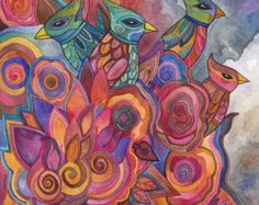 Quartet 2 Original Watercolor by Megan Noel.....