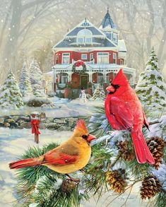 "Cardinal Holiday Retreat is a 1000 piece jigsaw puzzle from Springbok. Puzzle measures 30"" x 24"" when complete. Released September 2014."