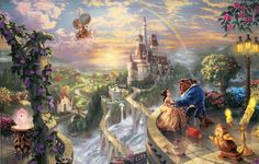 thomas kinkade ~ Disney Dreams ~ Beauty & the Beast