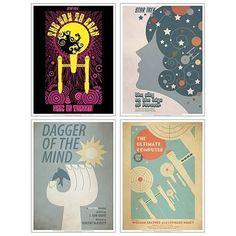 Star Trek Original Series 4 Fine Art Poster Set