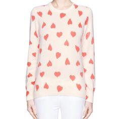 "Equipment cashmere Sweater Pink Shane crew heart print cashmere sweater. Underarm width 16.5"" shoulder to hem 24"" sleeve length 25"" Like new condition! Soooo soft.. Equipment Sweaters Crew & Scoop Necks"
