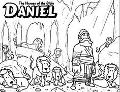 Daniel The Bible Heroes Coloring Page