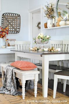 A Farmhouse Dining Table for an Awkward Room