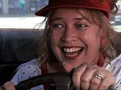 """fried green tomato -movie   """"Face it, girls. I'm older and I have more insurance."""" — Evelyn Couch (Kathy Bates), to the women whose car she's just slammed into — repeatedly — after they stole her parking space and said """"Face it, lady. We're younger and faster,"""" in 1991's Fried Green Tomatoes.  I love her!"""