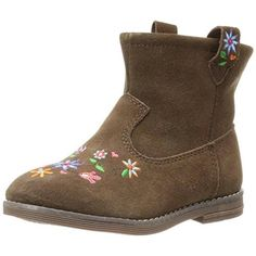Hanna Andersson Girls Elsa Brown Ankle Boots Shoes 4 Medium (B,M) $80 #HannaAndersson #Boots #Everyday