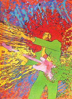 Jimi Hendrix's Explosion!, Artwork by Martin Sharp, 1967