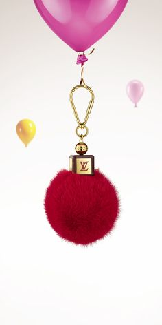 Add the Louis Vuitton Fluffy Bag Charm to your holiday wishlist. Handbag Accessories, Fashion Accessories, Louis Vuitton Handbags, Vuitton Bag, Dior, Red And Pink, Purses And Bags, Charmed, Billionaire
