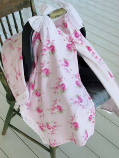 Dottie Roses Pink Infant Carseat Canopy with by HannahsHomestead2