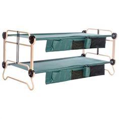 Disc - O - Bed™ Cam - O - Bunk XL Portable Bunk Bed with Organizers