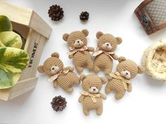 Enjoy this FREE teddy bear amigurumi pattern! Ccreate a cute crochet toy for your beloved child. Teddy Bear Patterns Free, Crochet Teddy Bear Pattern, Knitted Teddy Bear, Crochet Bear, Free Crochet, Crochet Patterns Amigurumi, Crochet Dolls, Amigurumi Doll, Small Teddy Bears