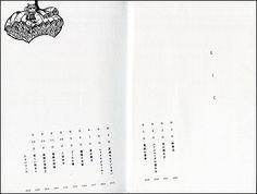ビーンク目次 Content Page, Printed Matter, Book Layout, Blog Entry, Editorial Design, Zine, Book Design, Graphic Design, Contents