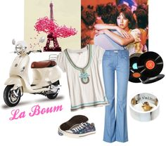 """Style inspired by the French film """"La Boum"""" starring gorgeous Sophie Marceau."""