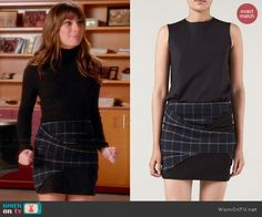 Rachel's plaid skirt on Glee. Outfit Details: http://wornontv.net/45830/ #Glee