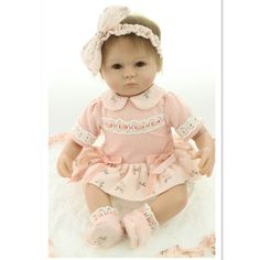 Dolls Liberal Npk 45cm Silicone Reborn Baby Doll Kids Playmate Gift For Girls 45cm Baby Alive Soft Toys For Bouquets Doll Bebes Reborn Year-End Bargain Sale