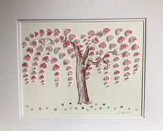 Original Weeping Heart Tree 16x20 3D Paper Art by TimelessDelight  Lovely.