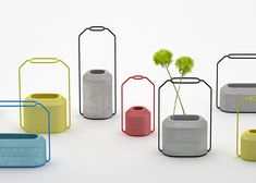 Concrete Weight Vases by Decha Archjananun