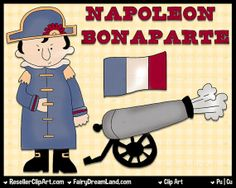 Napoleon Digital Clip Art  Commercial Use by ResellerClipArt, $1.50