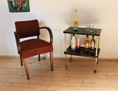 Bar Cart, Rockabilly, Designer, Furniture, Home Decor, Vintage Table, Tables, Dinning Table, Food