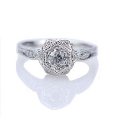 Oooo...a new favorite? $1700, so pretty. Antique Engagement Rings | Leigh Jay Nacht, New York