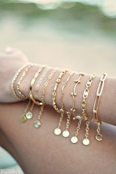Such a delicate piece. A simple dainty gold chain. ► Gold plated chain ► inches) bracelet with 1 inch extension. ► gold plated clasp and jumprings The last photo is just to show the chain itself. Dainty Bracelets, Silver Bracelets, Jewelry Bracelets, Jewelery, Gold Earrings, Diamond Bracelets, Chain Bracelets, Statement Earrings, Gold Jewelry Simple