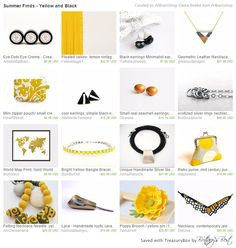 Gorgeous gift ideas on Etsy, including Bandie Girl's bright yellow bangle.