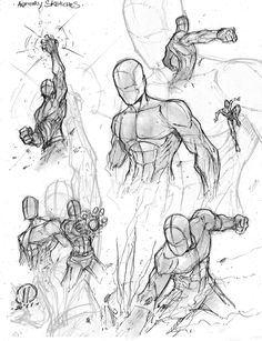Anatomy warm ups 2 by JoeyVazquez.deviantart.com on @deviantART