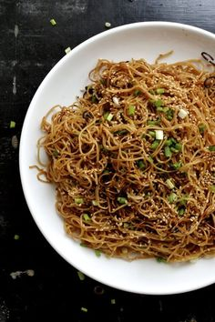These pan fried honey hoisin noodles are savory but slightly sweet, crispy, and very addictive. This hoisin noodle dish is perfect for a quick weekday meal!