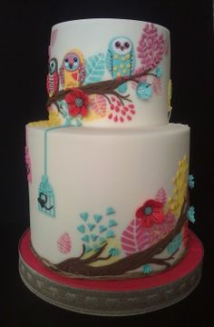 www.facebook.com/cakecoachonline - sharing...Cute owls!    Celebration and novelty cakes