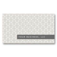 Tan Clover Pattern Customizable Personal Business Card Template