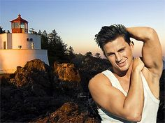 I used two photos, one was of a exciting background the Lighthouse and the other of still life Channing Tatum. I used the marching ants to crop out the background of the still life then hit the backspace button and dragged the still life photo Channing on to the Lighthouse background.