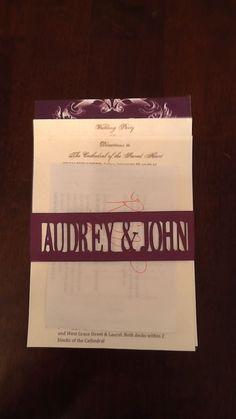 Semi Diy invite...Cricut made belly band :  wedding belly band diy invitation invitations purple Invite
