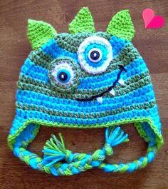 Monster Ear-Flap Hat Bad-Boy