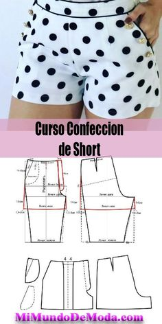 Patron Short de mujer – You are in the right place about kids recipes vegetables Here we offer you the most beautiful pictures about the kids recipes ground beef you are looking for. When you examine the Patron Short de mujer – part of the picture you … Dress Sewing Patterns, Sewing Patterns Free, Free Sewing, Clothing Patterns, Sewing Shorts, Sewing Clothes, Diy Clothes, Sewing Projects For Beginners, Sewing Tutorials