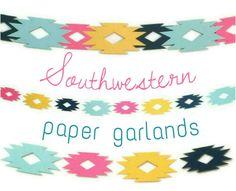 Southwestern Paper Garland, Navajo, Bohemian, Boho Birthday, Pow ...