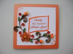 Flower Girl Card Will You Be My Flower Girl by stoykasart