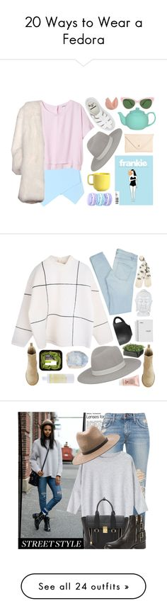 """""""20 Ways to Wear a Fedora"""" by polyvore-editorial ❤ liked on Polyvore featuring fedoras, waystowear, Monki, Janessa Leone, Dr. Martens, Joshu+Vela, Derek Lam, KamaliKulture, Marc by Marc Jacobs and Sisley Paris"""