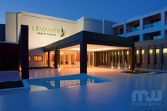 Stay in the Levante Beach Resort hotel on your next Rhodes holiday, and enjoy state of the art tennis and watersports facilities with Mark Warner. Beach Resorts, Hotels And Resorts, Sun Holidays, Greece Holiday, Sandy Beaches, Island, Mansions, Rhodes, House Styles
