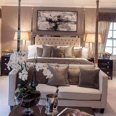 This is a Bedroom Interior Design Ideas. House is a private bedroom and is usually hidden from our guests. However, it is important to her, not only for comfort but also style. Much of our bedroom … Dream Master Bedroom, Master Bedroom Design, Home Decor Bedroom, Master Bedrooms, Bedroom Designs, Bedroom Apartment, Master Suite, Couples Apartment, Diy Bedroom
