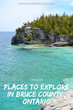 7 Places You NEED to Explore in Bruce County, Ontario : Bruce County is situated in Southwestern Ontario, nestled on the edge of Lake Huron, & is primarily known for its lovely coastal views & rugged escarpment. Ontario Travel, Toronto Travel, 7 Places, Places To Visit, Solo Travel, Travel Usa, Beach Travel, Quebec, Travel Guides