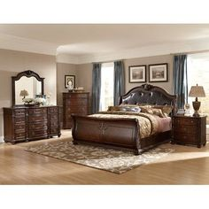 Woodhaven Hill Hillcrest Manor Sleigh Customizable Bedroom Set