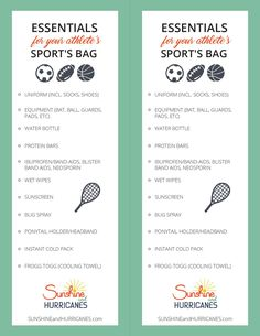 Tired of dropping off your kid for practice or arriving at an important game only to discover your child has forgotten their jersey or their shoes or sunscreen. It can be tempting to take over for them, but managing these things for themselves are an important life skill. Help them get organized and never leave essentials behinds with this Printable Kids Sports Bag Essentials Checklist.